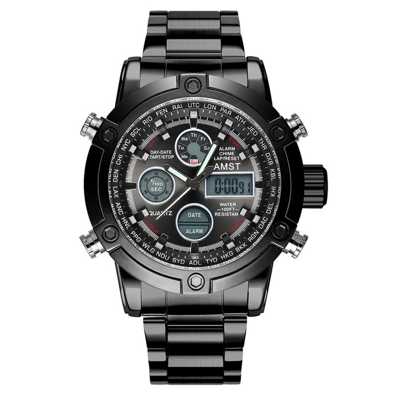 Horloges Heren 2018 Topmerk AMST 3022 Dual Display Horloges Luxe - Herenhorloges - Foto 5