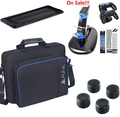 Dust Proof Cover Kit+Dual Controller LED Charger Dock Station+Carrying Bag For PlayStation 4 PS4 Gaming Console PS 4 With 2 caps