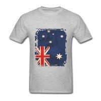 Men S O Neck Short Funny T Shirt Australian Flag Homme T Shirt Printed Clothing Novelty