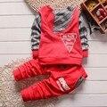 Ropa de niño ropa de moda ropa de bebé niño establece kid Completo + pantalones traje de los niños muchachos de la ropa del cabrito del bebé conjunto
