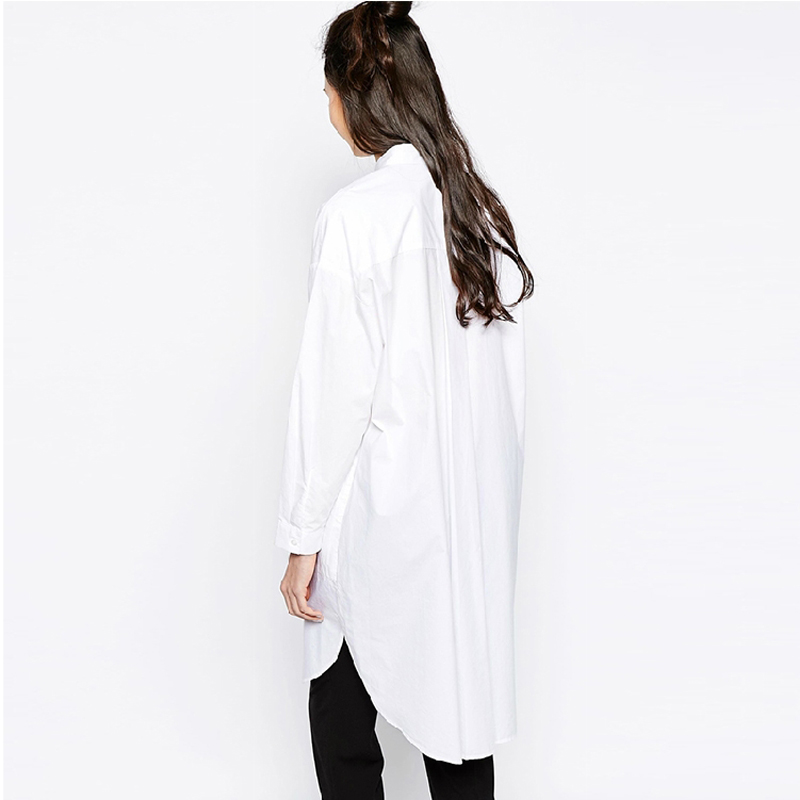 Online Shop White Shirt Tops Women Boyfriend Style Long Sleeve ...
