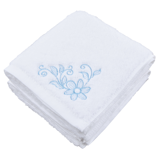 Sinland Flower Embroidered Hand Towel Extra Absorbent Fingertip