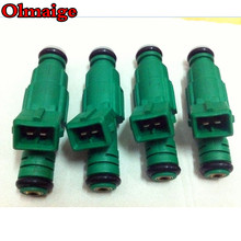 4pcs FREE SHIPPING green Giant 42lb fuel injector 0280 155 968 0280155968 high performance for VW AUDI VOLVO Golf