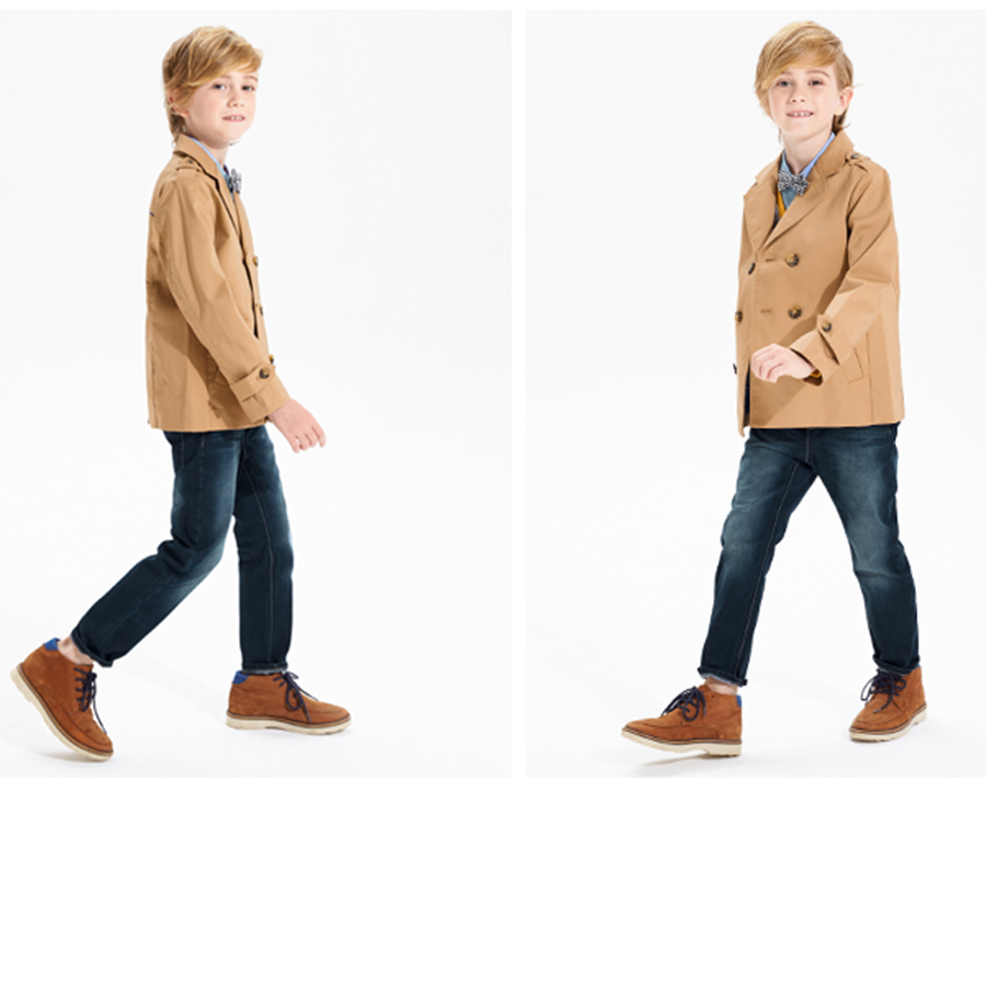 где купить Fashion New 2016 Trench Coat Boys Autumn Spring Warm Korean Children Clothes Kids Boys Windbreaker Jacket Fashion 70F1578 по лучшей цене