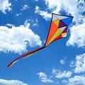 Grande Diamante Kite Rainbow Fácil Pipas Com 60 cm Cauda Envergadura Para Adultos Crianças Brincar Ao Ar Livre