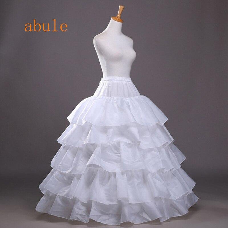 Petticoats Begeistert 4 Hoops Ballkleid Petticoats Günstige Schwarz Petticoat Krinoline Unterrock Großen Rüschen Hochzeit Zubehör Womans Tüll Unterröcke