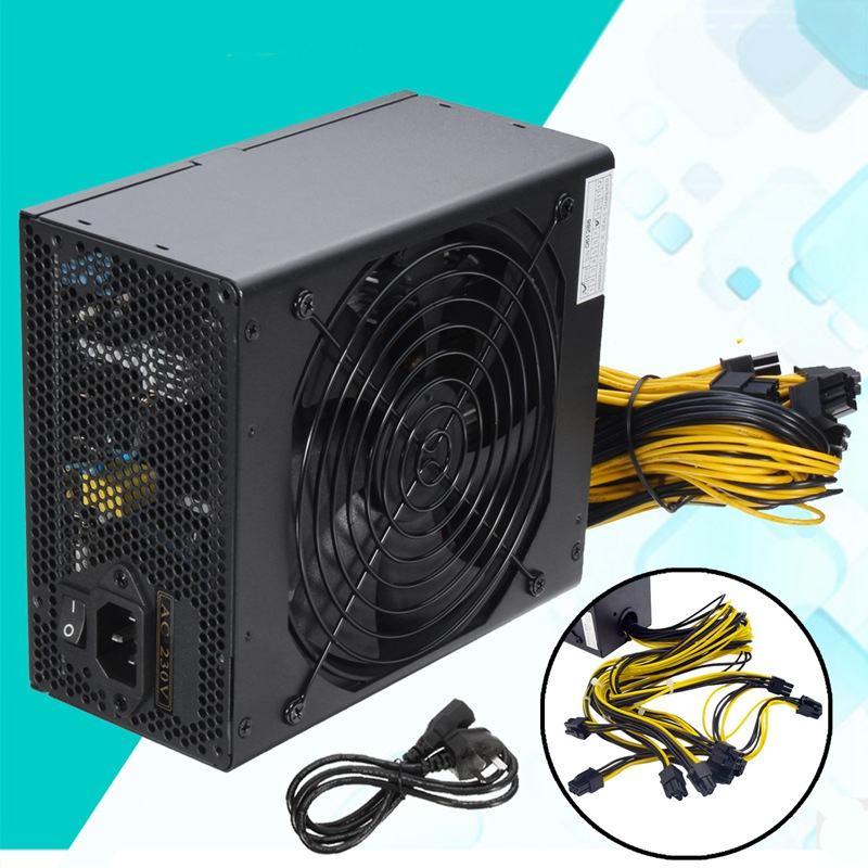 New MAX 1850W Miner Mining Power Supply 6 Pin For Antminer Coin BTB S9/S7/A7/A6/L3/R4 High Quality Computer Power Supply For BTC