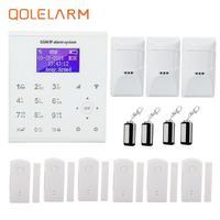 QOLELARM simple diy gsm and wifi security SMS Home Burglar Alarm System PET IMMUNE PIR Motion Detector APP Control Sensor Alarm