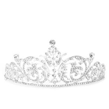 Crystal Jewelry Rhinestone Silver Plated Bridal Tiara Crown Wedding Hair Accessories Gorgeous Bride Princess Headwear(China)