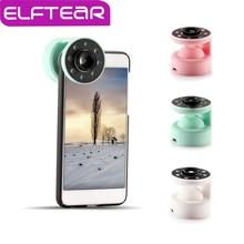ELFTEAR 2 в 1 Selfie Свет + широкоугольный Объектив Для iPhone android Мобильного Телефона Свет Красоты Selfie Кольцо Заполняющий свет