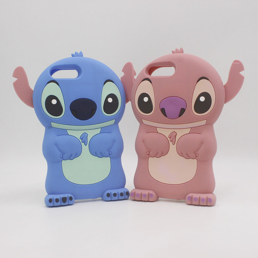 <font><b>3D</b></font> Cute Anime <font><b>Cartoon</b></font> Stitch <font><b>Fundas</b></font> For <font><b>iPhone</b></font> 8 7 6 Plus 6Plus 7Plus 8Plus <font><b>iPhone</b></font> 5 <font><b>5S</b></font> X Case Silicone Soft Phone Back Cover image