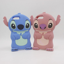 купить 3D Cute Anime Cartoon Stitch Fundas For iPhone 7 Plus 7plus 6 6S 6Plus iPhone 5 5S SE 4 4S Case Silicone Soft Rubber Back Cover по цене 199.95 рублей