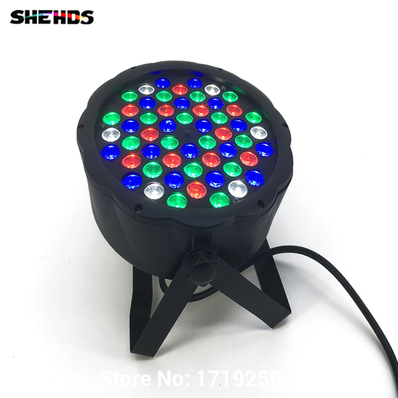 Fast Shipping LED 54x3W RGBW LED Flat Par RGBW Color Mixing DJ Wash Light Stage Uplighting KTV Disco DJ DMX512 fast russia shipping 7x12w led par lights rgbw 4in1 flat par led dmx512 disco lights professional stage dj equipment
