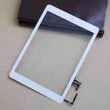 Tested Touch Screen For iPad Air For Ipad 5 5th Digitizer Assembly+home button + flex cable + camera holder completed