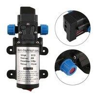 DC 12V 80W Micro Electric Diaphragm Water Pump 5 5L Min High Pressure Car Washing Spray