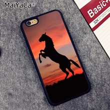 MaiYaCa horse silhouette shadow sunset Phone Case Cover For iPhone 4 5 5s  SE 6 6s 450d362ec51a