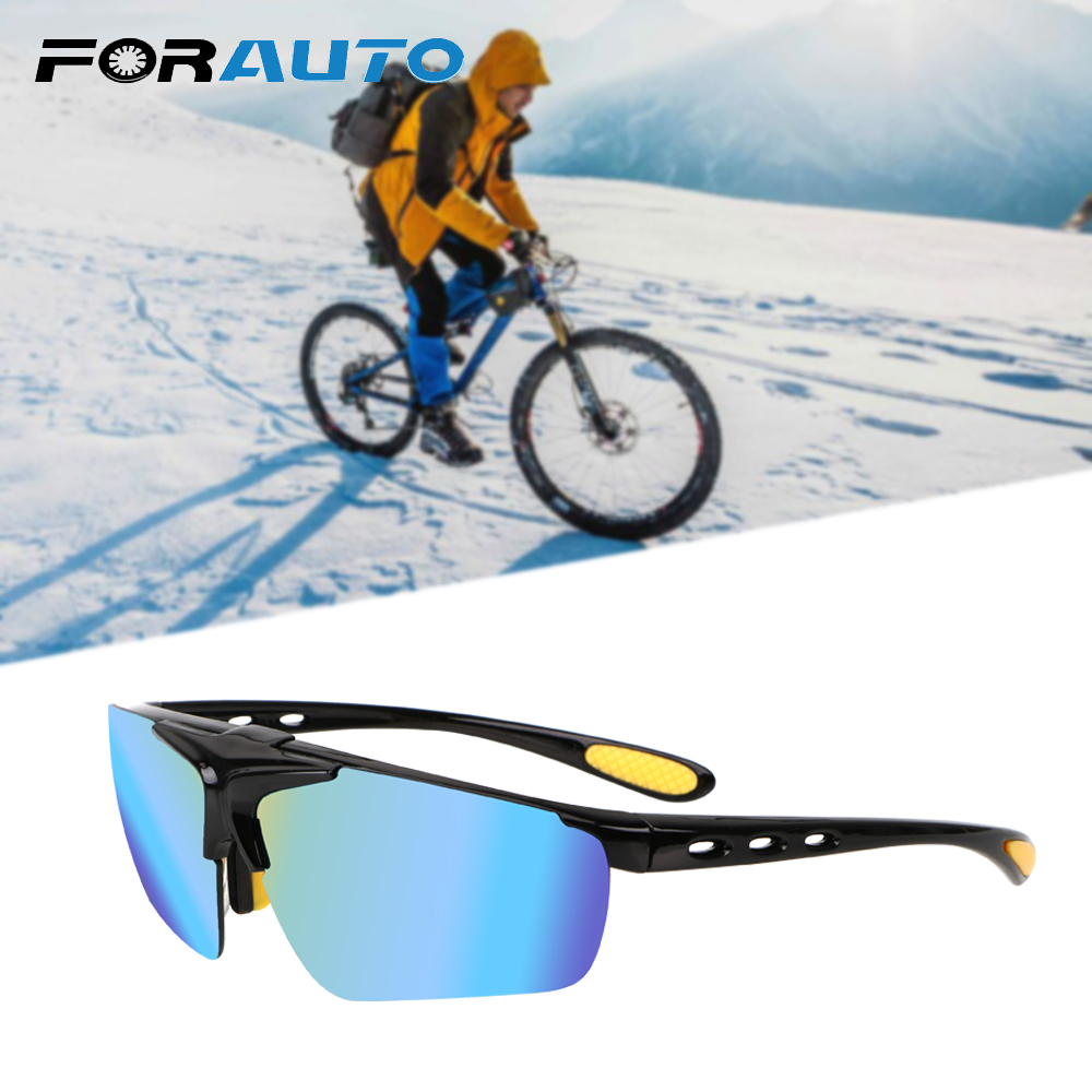 FORAUTO Night Vision Drivers Goggles UV Protection Flip Cover Motocross Bike Sunglasses Anti Glare Car Night-Vision Glasses