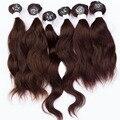 Evet armadura virginal del pelo humano Wave Natural Hair Weaving 7A grado superior 6 unids 200 g/Set virginal sin procesar extensiones de cabello humano