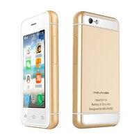 סופר מיני smartphone אנדרואיד 5.1 Ultra slim ליבת MTK6580 Quad 512 + 8 גרם 16 גרם 3 גרם WCDMA Wifi חנות play טלפון נייד תלמיד P017