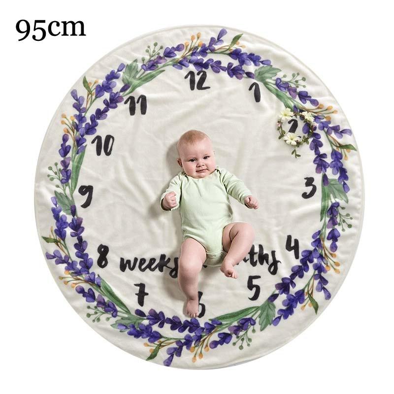 Прямоугольное одеяло-Ростомер для новорожденного ребенка/ребенка, подарок для мальчика, одеяло для фотосъемки 76X102 см - Цвет: purple