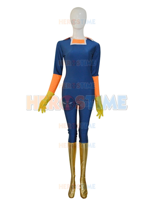 Navy Blue Captain Falcon F-Zero Custom Superhero Costume Lycra Spandex Falcon Captain Cosplay Suit