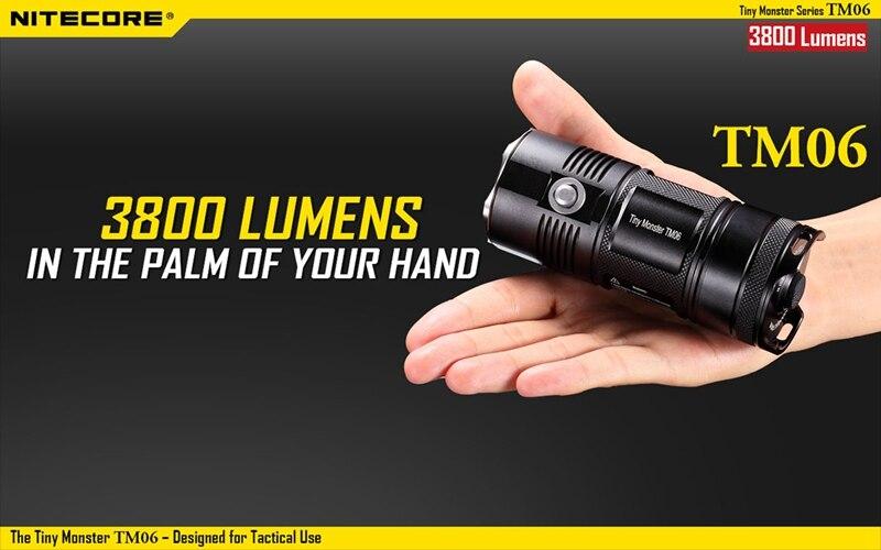 Nitecore TM06 3800LM 7 modes Waterproof Tactical 4x XM L2 U2 led light lamp Flashlight Not