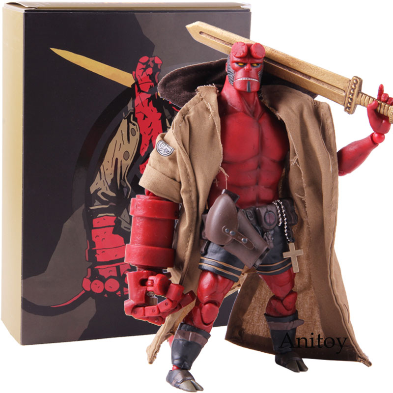 1000 Toys Dark Horse Hellboy Figure 1/2 Scale Action Figure PVC Collectible Model Toy image