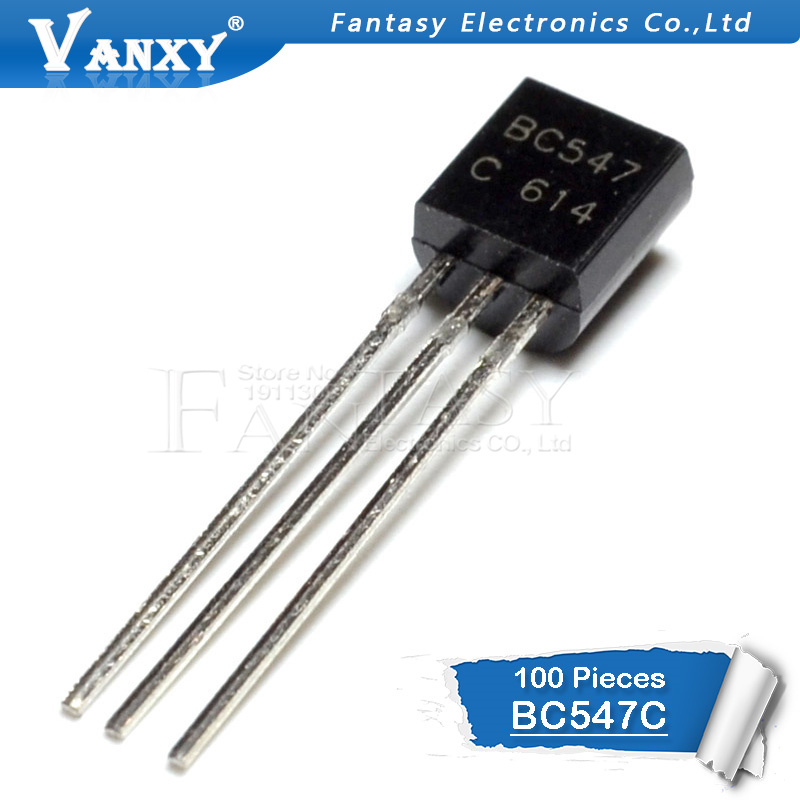 20 x transistores bipolar NPN BC547C-TO92