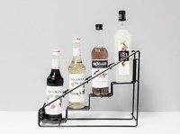 Molin 4ボトルワイヤーdiplayラック/moninシロップラックコーヒー収納ラック多機能ミルクティーカップラック表示