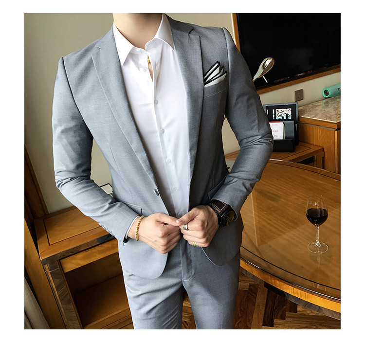 f0239c1c59d7 Clothing Length: Regular Closure Type: Single Breasted Front Style: Flat  Pant Closure Type: Zipper Fly Fit Type: Straight Style: Smart Casual  Gender: Men