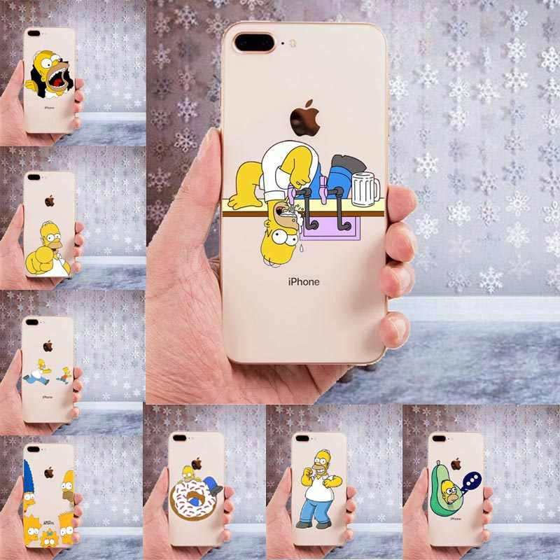 LISHE The Simpson TPU Soft Case For iPhone 11 11Pro 5 5S SE 6 XS ...