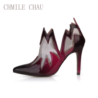 CHMILE CHAU Sexy Party Bootie Shoes Women Pointed Toe Stiletto High Heels Ball Fashion Lady Ankle Boot Zapatos Mujer 70887 4c