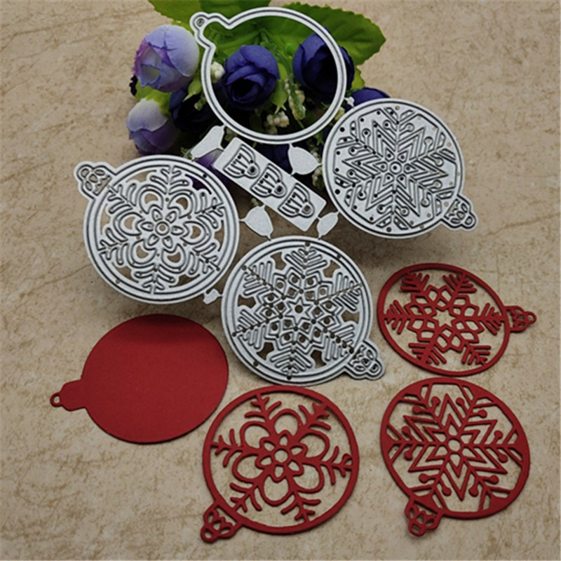 Christmas Bell Snowball Metal Cutting Dies For DIY Scrapbooking Album Embossing Paper Cards Decorative Crafts