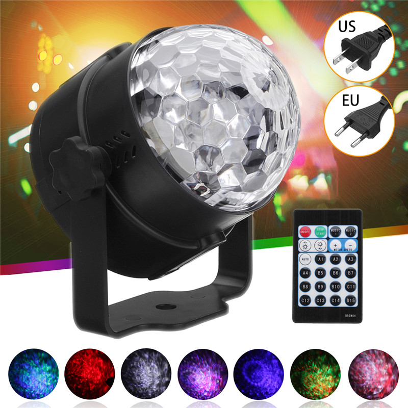 9W RGB LED Stage Light Crystal Ball Light with Remote Controller 15 Colors Self-propelled For Dj Disco Party AC110V-220V9W RGB LED Stage Light Crystal Ball Light with Remote Controller 15 Colors Self-propelled For Dj Disco Party AC110V-220V