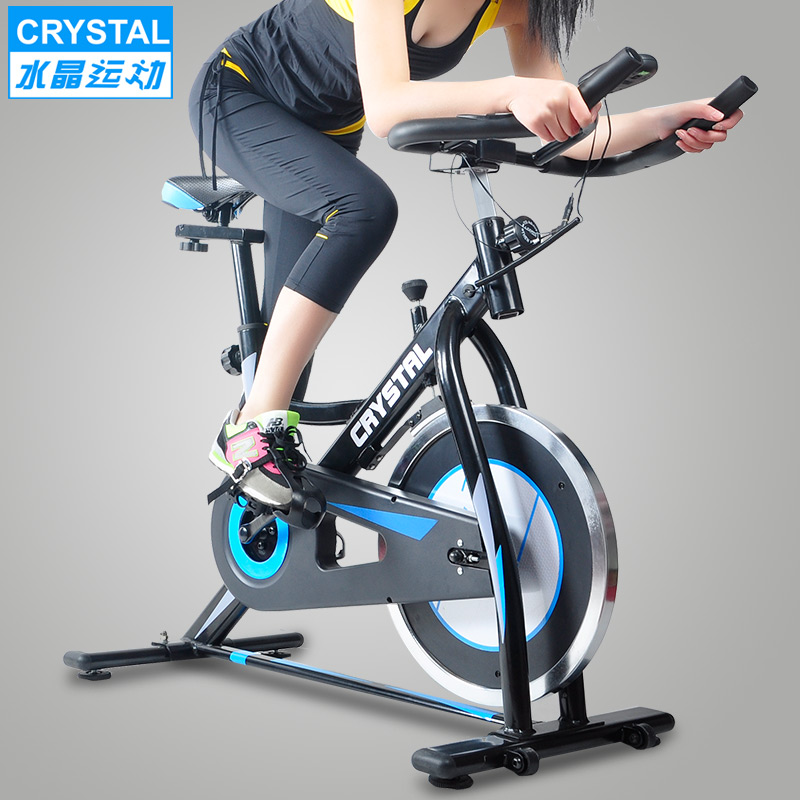 Crystal spinning household ultra quiet fitness bicycle sport bike equipment indoor new body building vehicle