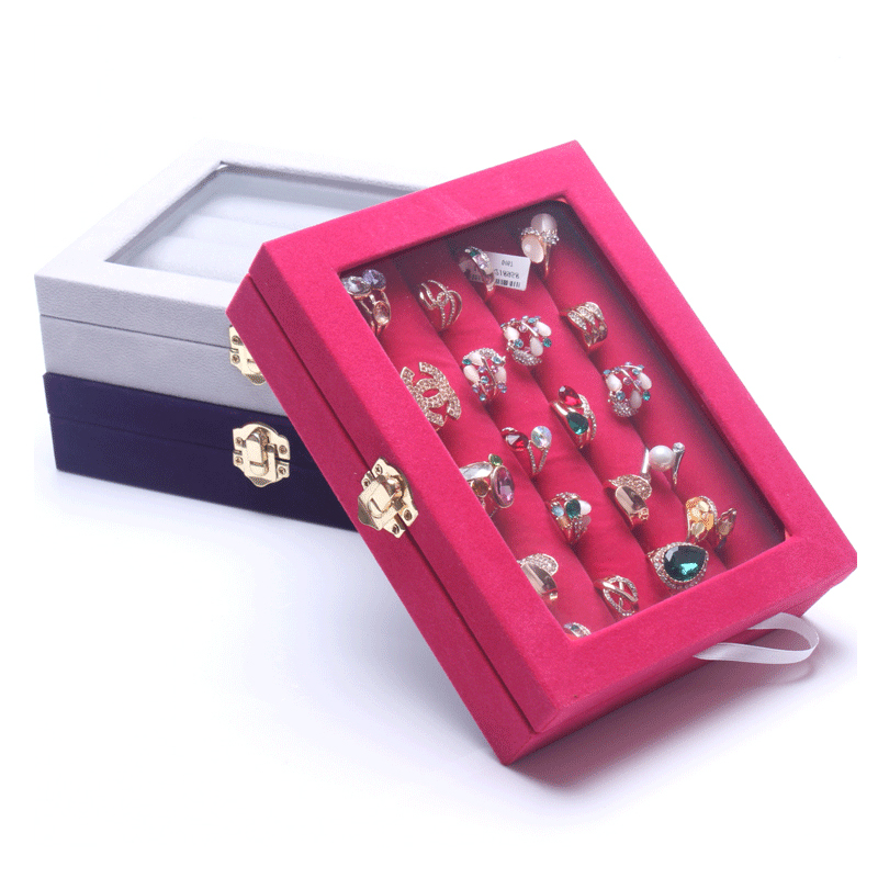 Fashion Organizer Show Case Jewelry Display Rings Holder