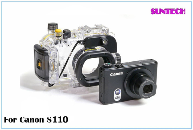 2013 News waterproof water-tight camera case for Canon S110  Free shipping