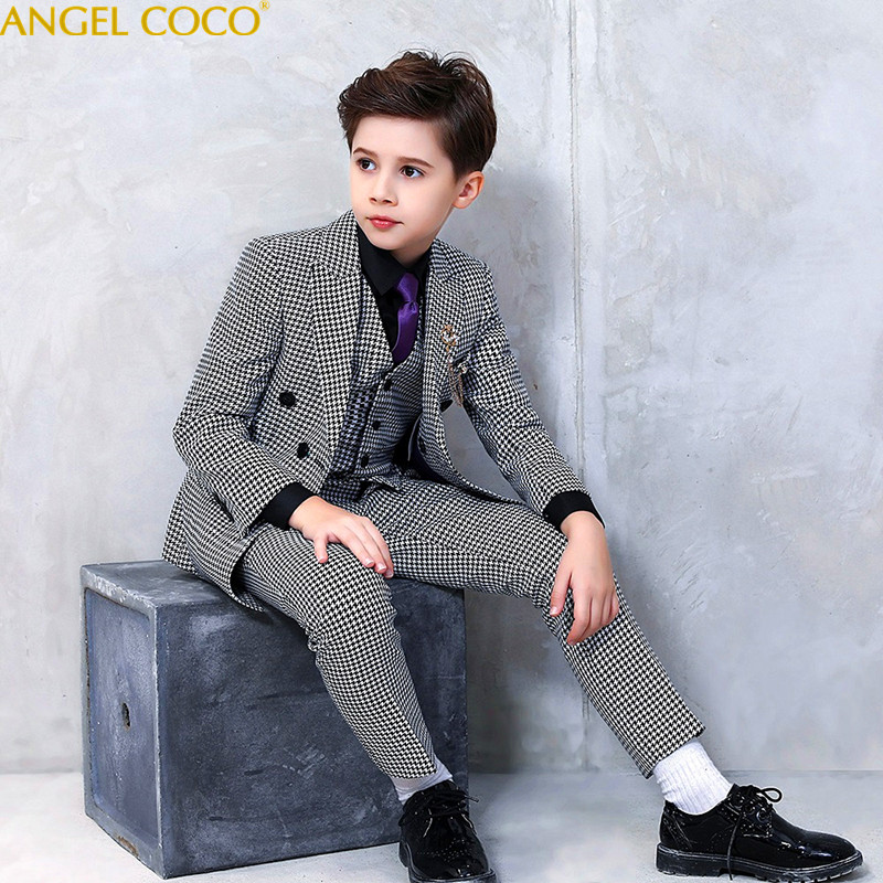 все цены на 2018 New Fashion White Balck Baby Boys Suit Kids Blazers Boy Suit For Weddings Prom Formal Spring Autumn Wedding Dress Boy Suits онлайн