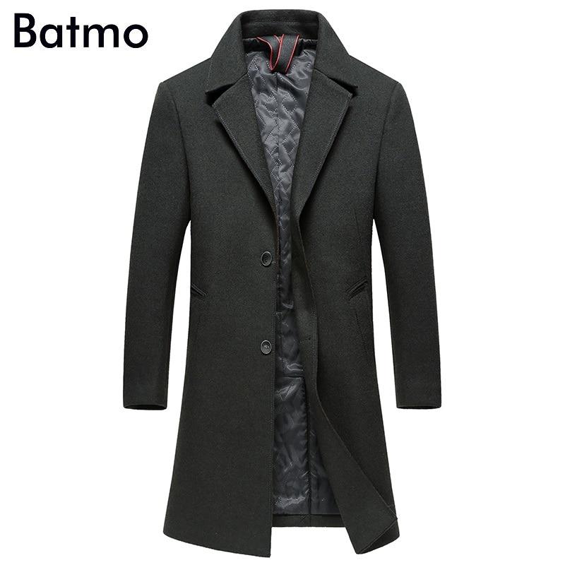 BATMO Trench-Coat Jakcets Plus-Size Wool Men's Long Winter Casual High-Quality M-XXXL