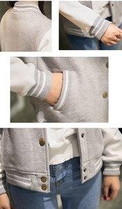 Image 2 - ฤดูใบไม้ร่วงเบสบอล BOMBER แจ็คเก็ตสตรี Windbreaker เสื้อกันหนาว Harajuku Streetwear Coat Casaco Feminino chaqueta mujer jaqueta
