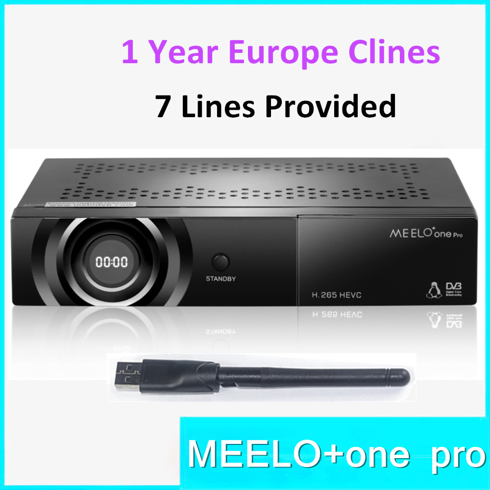 Best selling full HD satellite tv receiver DVB-S2 MEELO ONE PRO H.265 HEVC AVC Linux OS Support YouTube Cccam IPTV M3U цена