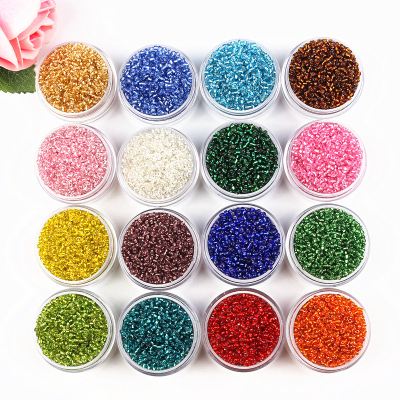 Wholesale 2000pcs Silver Color Seed Glass Spacer Beads 2mm Jewelry Findings