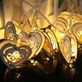 Tanbaby  LED Novelty Fairy String light 1.2 meter 10 led Wood heart Warm white, RGB decoration light for home bedroom wedding