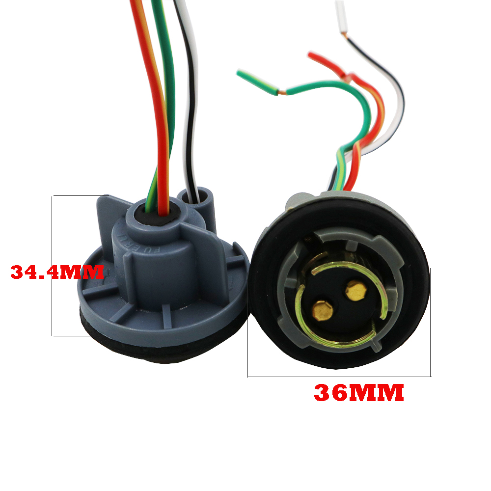 small resolution of ysy 10pcs 1157 bay15d turn light brake bulb socket connector wire harness plug for led bulbs in base from automobiles motorcycles on aliexpress com