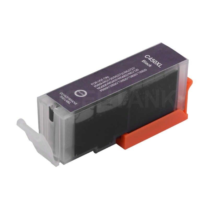 ICEHTANK Compatibele Inkt Cartridge Voor Canon PGI 450 PGI-450 PGI450 CLI451 PIXMA MG5440 MG5540 MG5640 MG6440 Ip7240 MX924 Printer