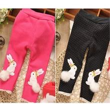 2016 Winter Infant Baby Girl Polka-dot Pants Rabbit Printed Thickening Bottoms 9-30M Kawaii Elsa NMD