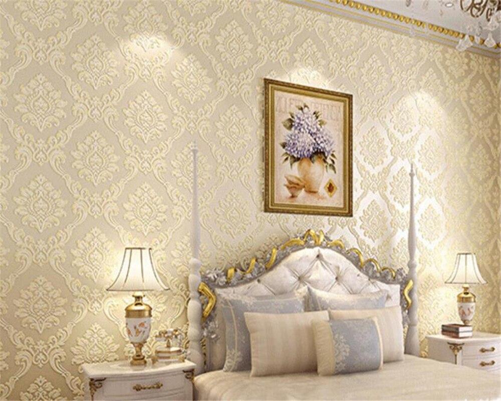 Behang Slaapkamer Romantisch : Beibehang papel parede europese stijl damascus relief d behang