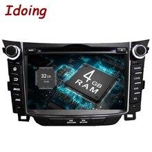 Idoing 2Din 7 «Android8.0 4G + 32G Руль Подходит для hyundai I30 автомобильный мультимедийный плеер gps навигация Bluetooth ТВ wifi радио