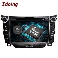 Idoing 2Din 7Android8.0 4G+32G Steering Wheel Fit Hyundai I30 Car Multimedia Player GPS Navigation Bluetooth TV WIFI Radio