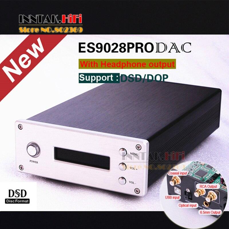 bilder für Neue ES9028PRO + Amanero USB DAC W/TPA6120A2 kopfhörerverstärker Unterstützung USB/coaxial/fiber optic eingang, PCM384K/DSD256